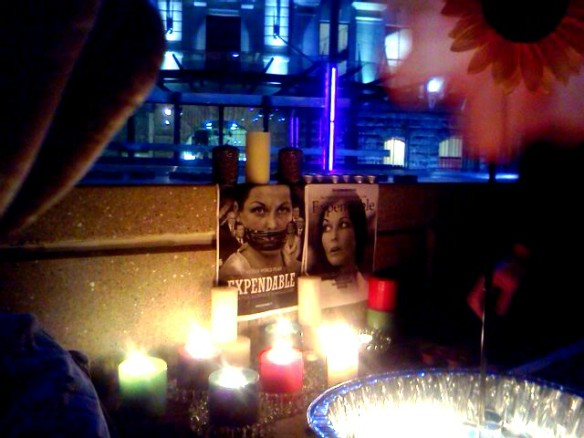 Candlelight vigil in solidarity with #SchapelleCorby #F28 Aotea Square, Auckland, New Zealand Feb 28 2013
