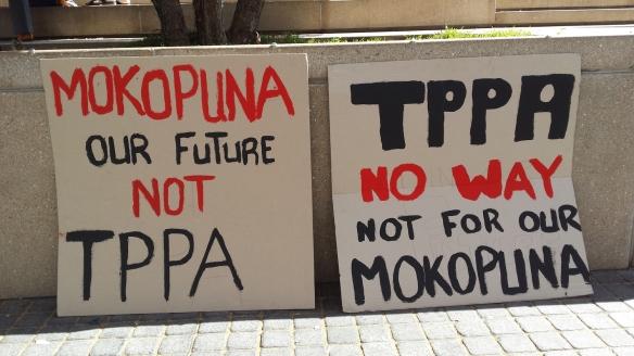 #TPPANoWay sign