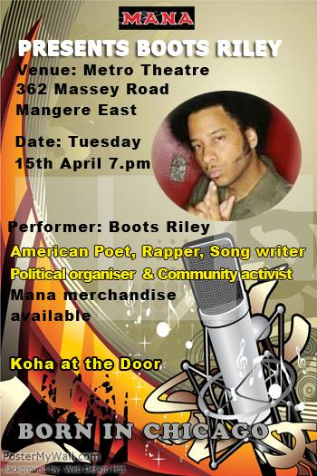 Boots Riley Event Poster